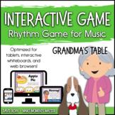 Interactive Rhythm Game - Fill Grandma's Table Thanksgivin
