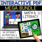 Digital Interactive Games - Math and Literacy BUNDLE