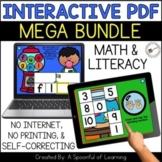 Digital Interactive PDF Games - Math and Literacy BUNDLE