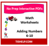 Interactive PDF Worksheet - Addition (6-10)