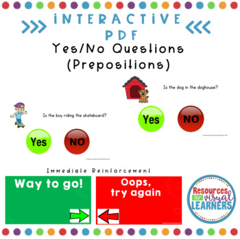 Interactive PDF-Yes/No Question about Prepositions