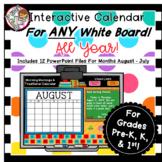 Interactive PPT Calendar Yearlong Bundle - 12 Calendars fo