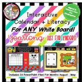 Interactive PPT Bundle 10 Literacy Files & 10 Calendars fo