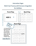 Interactive Pages Math Fact Fluency with Sensory Integrati