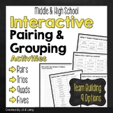 Interactive Pairing and Grouping Activities