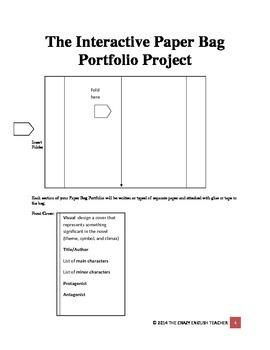 Interactive Paper Bag Portfolio Project: Any Novel, Short Story, Drama
