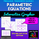 Graphing Parametric Equations Interactive Grapher with FRE