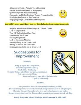 Interactive Parent-Teacher Conference Sheet