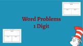 Interactive Part Part Whole Word Problem Activity (1 Digit)
