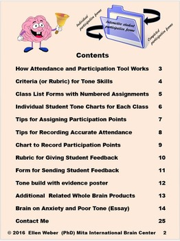 Interactive Participation, Tone Skills and Attendance Folder