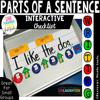 Interactive Parts of a Sentence Writing Checklist: K-1st