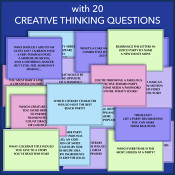 Interactive Party Game: 20 Terrific Questions for Fun in the Classroom!