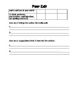 Interactive Peer Editing Form