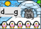Interactive Digital Penguin CVC missing middle vowel power point game