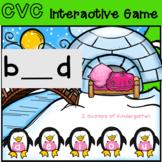 Digital Penguin CVC missing vowel pwr pt game(Distance Learning)