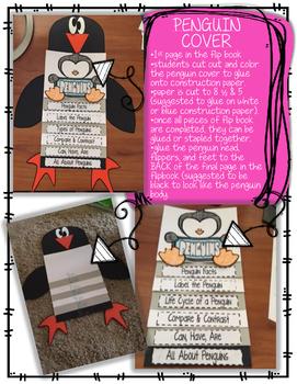 Interactive Penguin Flip book & Craft