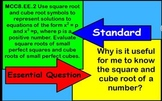 Interactive Perfect Square and Cube and Roots Flipchart: C