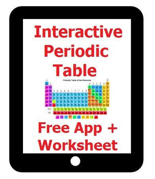 Interactive Periodic Table Response Sheet for NOVA iPad (free) App