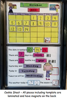 Interactive Personal Velcro or Magnetic Calendar