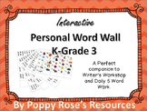 Interactive Personal Word Wall For Writer's Workshop and Word Work