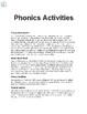 Phonics Reading Passages | Phonics Activities