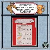 INTERACTIVE PHONICS FILE FOLDER  SHORT VOWEL A  7 ACTIVITIES