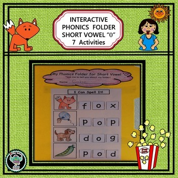 Interactive Phonics File Folder    Short Vowel  O    7 Activities