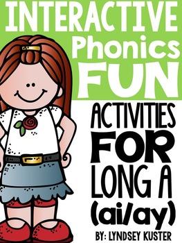 Interactive Phonics Fun {Long A Spelled Ai/Ay}