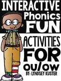 Interactive Phonics Fun {ou and ow}