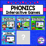 Interactive Phonics Games for PowerPoint BUNDLE