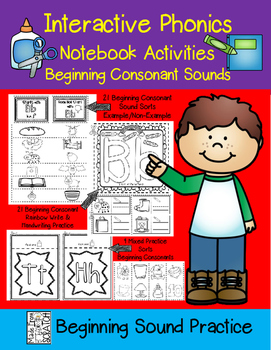 Interactive Phonics Notebook-Beginning Consonant Sounds
