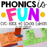 Interactive Phonics Notebook CVC Words : Back to School