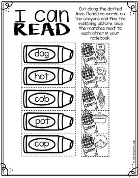 Interactive Phonics Notebook CVC Words : Back to School