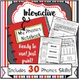 Interactive Phonics Notebook Materials