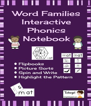 Interactive Phonics Notebook Word Families 30 Weeks/120 Lessons