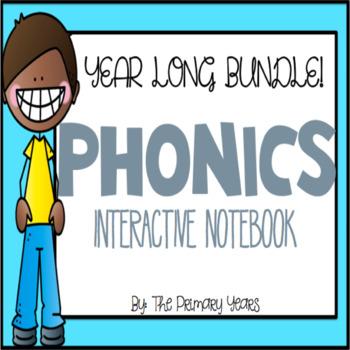 Interactive Phonics Notebook Word Work YEAR LONG BUNDLE