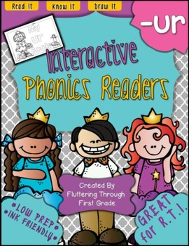 R Controlled Vowels -UR Phonics Readers
