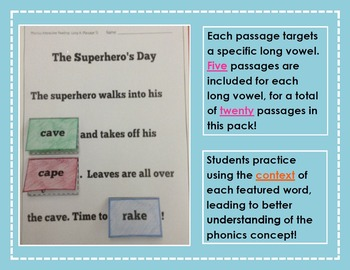Interactive Phonics Reading Passages: Long Vowel CVCe Edition