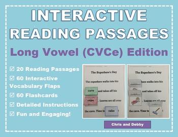 Interactive Phonics Reading Passages: Long Vowel CVCe Edition