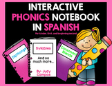 Interactive Phonics Spanish Notebook Perfect for First Graders