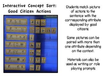 PICTURE VOCABULARY SORT: Good Citizens (Autism/Special Education)
