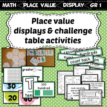 Interactive Place Value Displays & Challenge Table Activities Grade 1