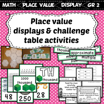 Interactive Place Value Displays & Challenge Table Activities Grade 2