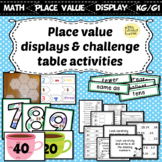 Interactive Place Value Displays & Challenge Table Activities kinder