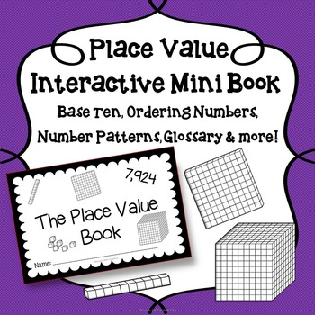 Interactive Place Value Math Mini Book
