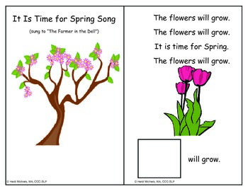 Interactive PLANTS/SPRING Books and Thematic Concept Activities