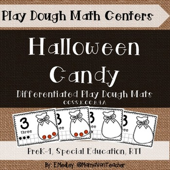 Interactive Play Dough Math Centers: Differentiated Hallow