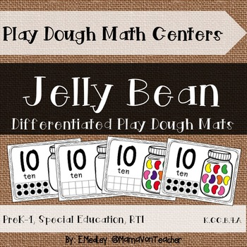 Interactive Play Dough Math Centers: Differentiated Jelly Bean Jars {Prek-1}