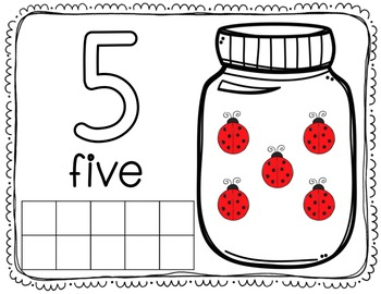 Interactive Play Dough Math Centers: Differentiated Ladybug Jars {Prek-1}