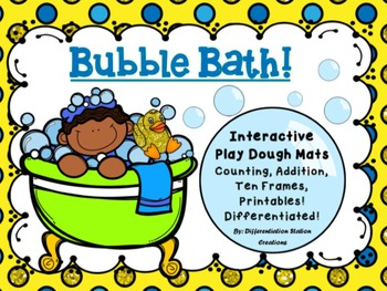 Interactive Play Dough Mats, Counting Centers & Games, Printables: Bubbles